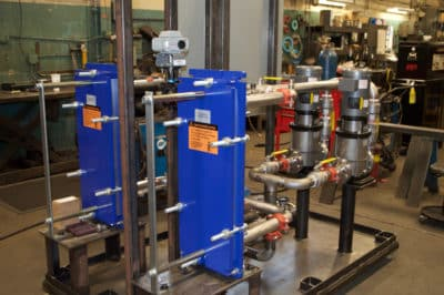 Alfa Laval Heat Exchangers on Pump Skid - expandable if system needs grow