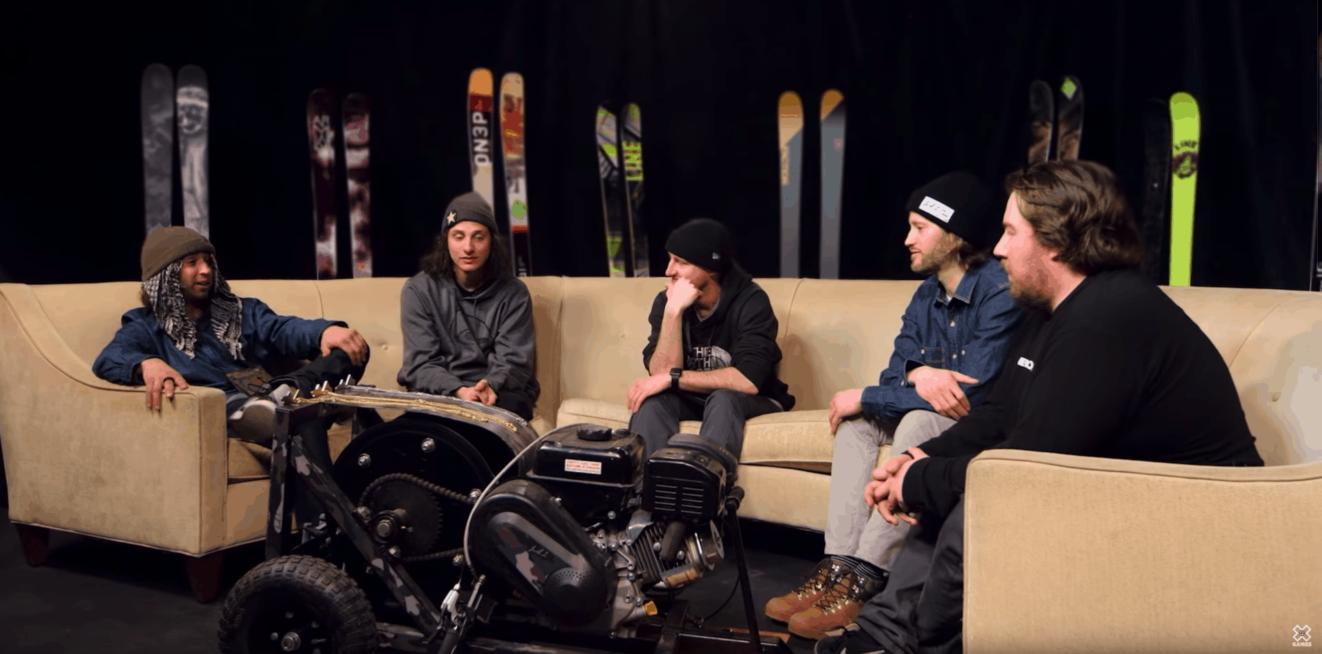 still of x games interview on couch