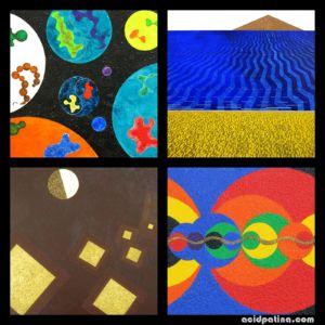 Sacred geometry paintings