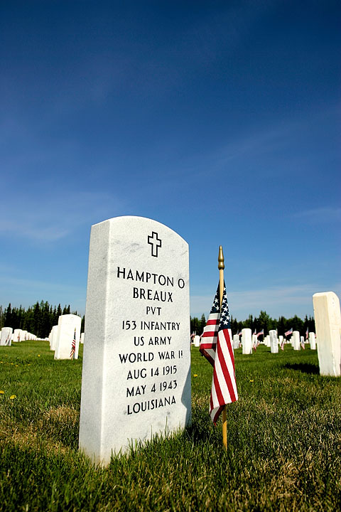 Flag and Headstone