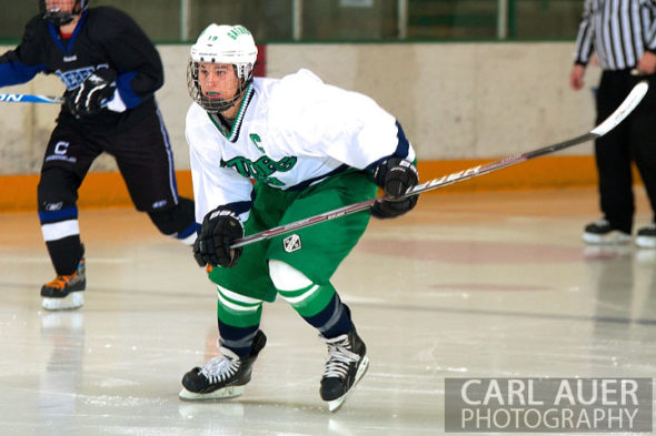 January 4th, 2013: A Standley Lake Gator skates down the ice in the game against the Columbine Rebels at the Ice Center at the Promenade in Westminster, CO on Friday night.