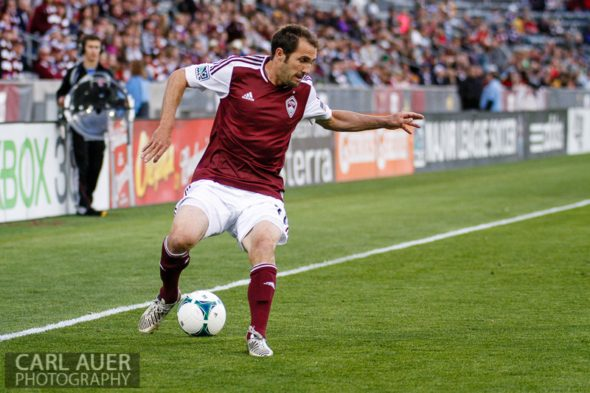 May 4th, 2013 - Colorado Rapids midfielder Brian Mullan (11) makes a quick move down the line with the ball in the first half of the MLS match between the Toronto FC and the Colorado Rapids at Dick's Sporting Goods Park in Commerce City, CO