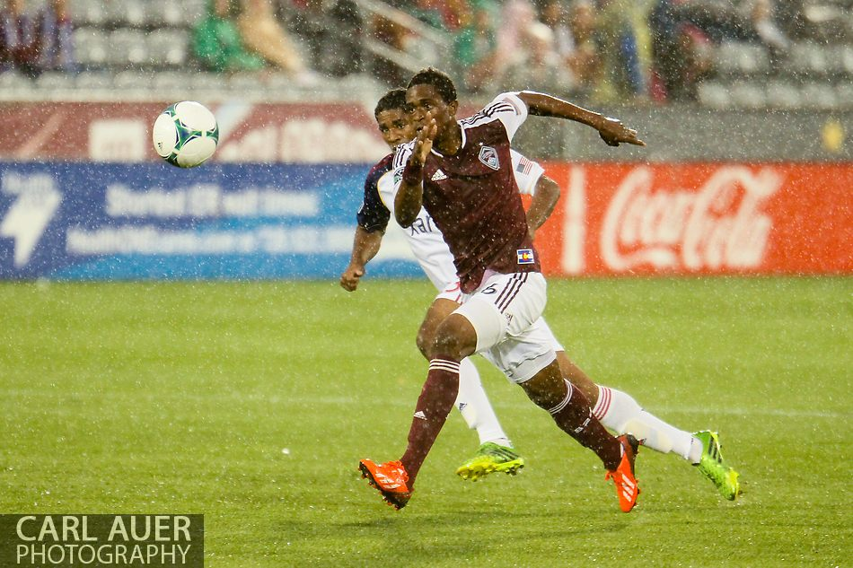 August 3rd, 2013 - Colorado Rapids forward Deshorn Brown (26) chases after the ball in the first half of action in the Major League Soccer match between Real Salt Lake and the Colorado Rapids at Dick's Sporting Goods Park in Commerce City, CO