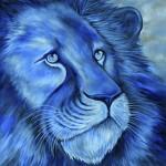 Blue Lion Oil Painting