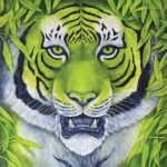 Green Tiger Oil Painting