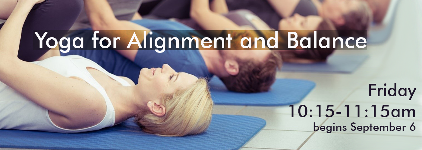 image describing alignment and balance yoga class