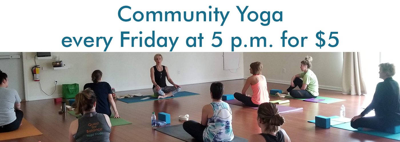 Community Yoga - each Friday at 5pm $5 donation
