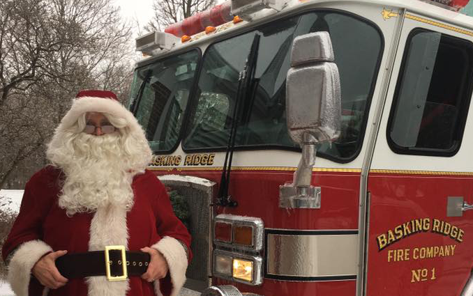 Santa to your home on a fire truck!