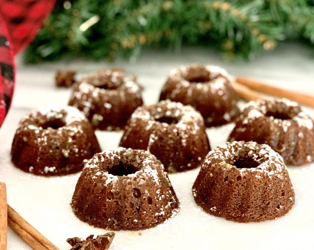 Gingerbread Cakes with Lemon-Ginger Glaze