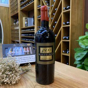 Rượu Vang Massimo 1800  iGP Salento (có hộp gỗ) – IW05