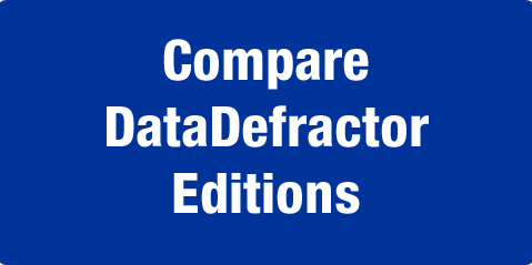 Compare DataDefractor Editions
