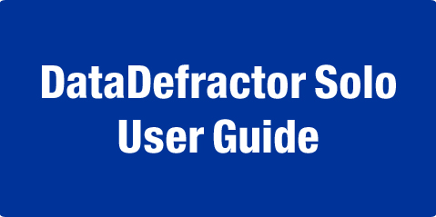 DataDefractor Solo User Guide