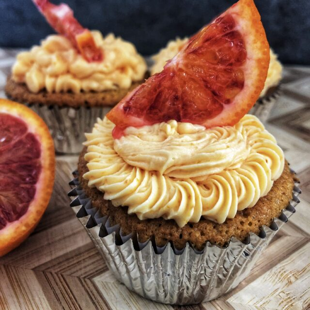 Gluten Free Blood Orange Cupcakes