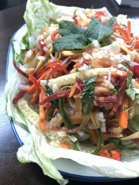 Asian Strawberry Papaya Salad- #FreakyFruitsFriday