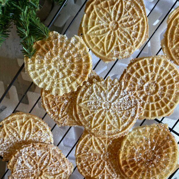 Easy Italian Pizzelles- #ChristmasCookies