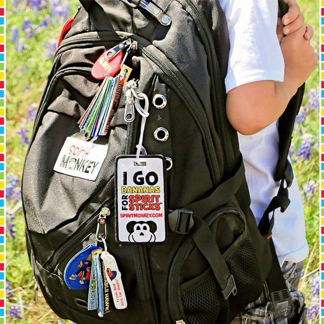Hang your Spirit Sticks from your backpack!