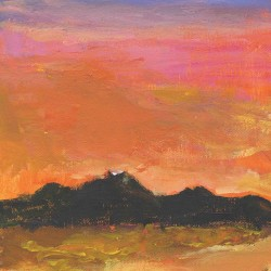 Impressionism - Sunset & Mountains