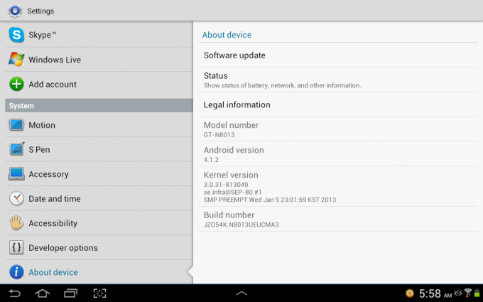 Android 4.1.2 Hits U.S. Variants of the Samsung Galaxy Note 10.1