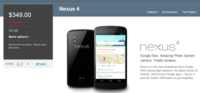 Nexus 4 Fanatics use a bit of Detective Work to Uncover Approximate Sales Figures