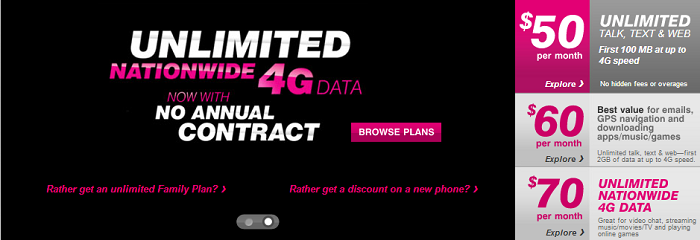 T-Mobile Launches Unlimited 4G Data Plan for Prepaid Customers