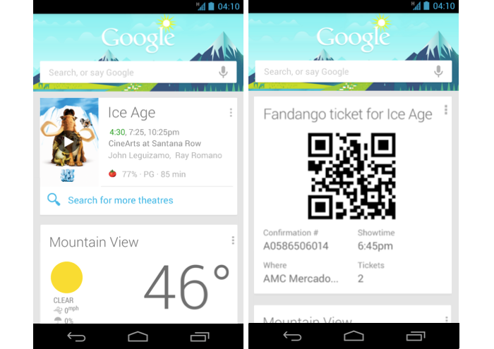 Google Search Update Brings Google Now Widget, New Cards, and More