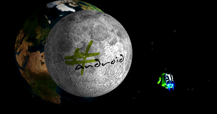 #Android's Daily Wallpaper: The Bright Side of the Moon