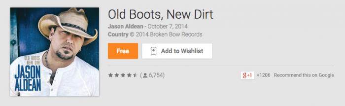 Deal: Jason Aldean's Latest Album Free on Google Play