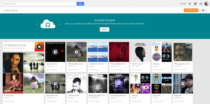 Google Increases Music Storage Limit on Google Play to 50,000 Songs