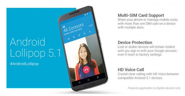 Android 5.1 Lollipop Unwrapped With New Connectivity Features