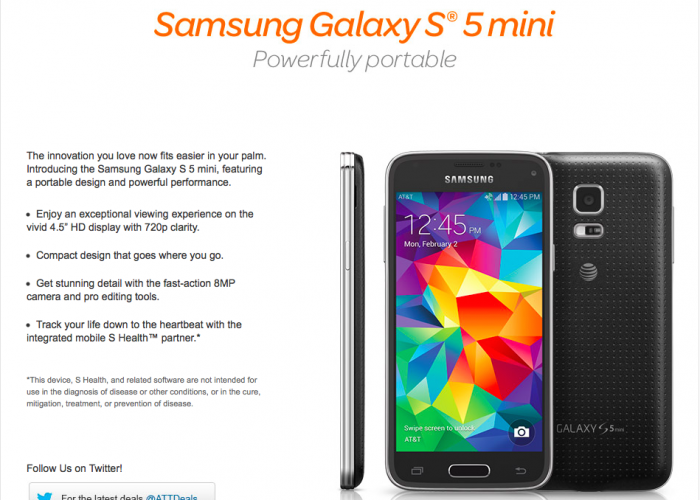 [WTF] Samsung to Release Galaxy S5 Mini on AT&T March 20
