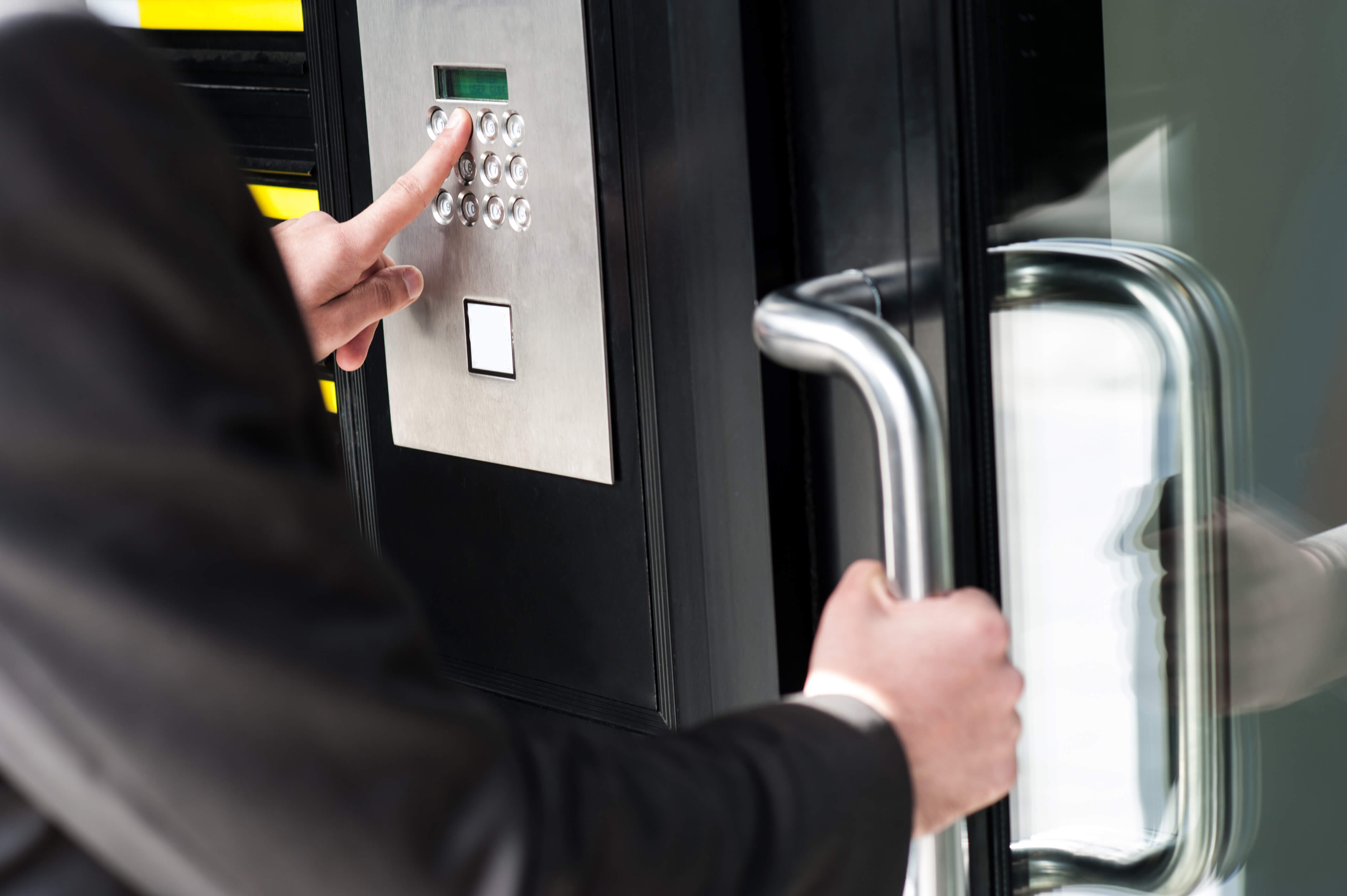 commercial telephone entry system