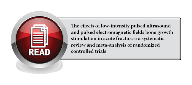 119 - The effects of low-intensity pulsed ultrasound and pulsed electromagnetic fields bone growth stimulation in acute fractures: a systematic review and meta-analysis of randomized controlled trials