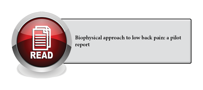 132 - Biophysical approach to low back pain: a pilot report
