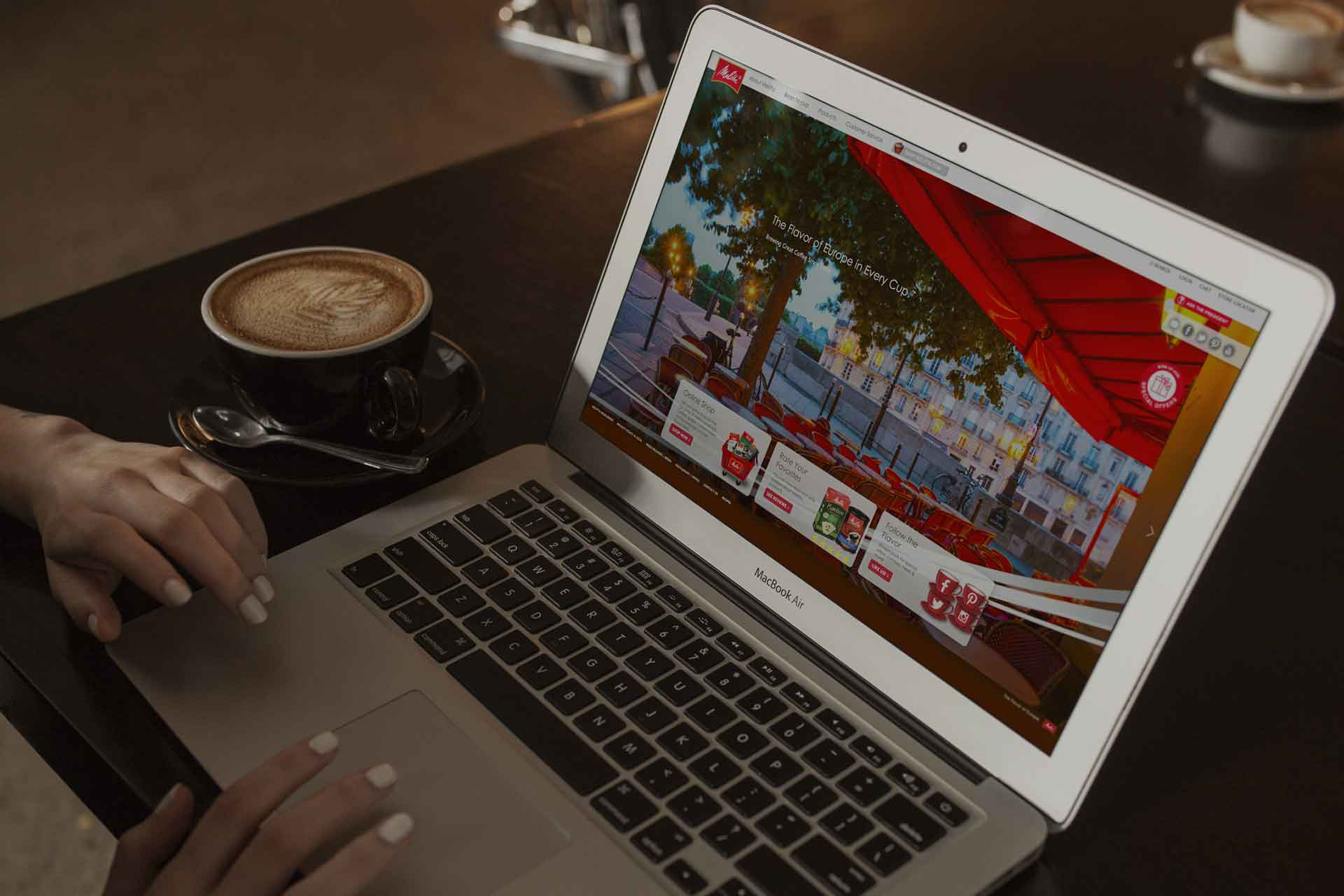 Melitta Coffee - Website Design
