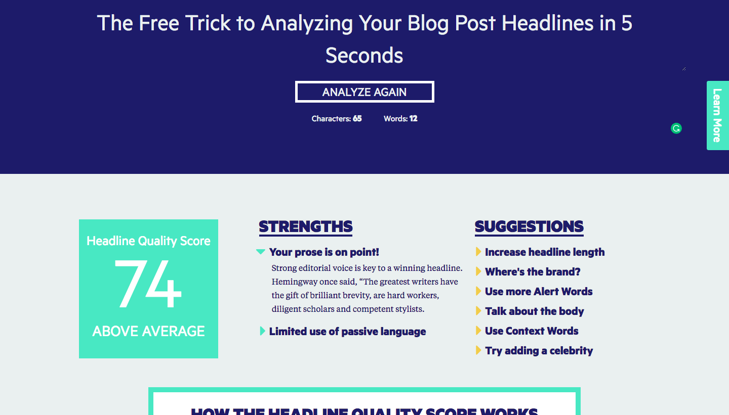 the free trick to analyzing your blog post headlines in 5 seconds