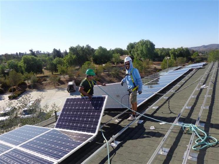 Commercial - solar panels on roof top