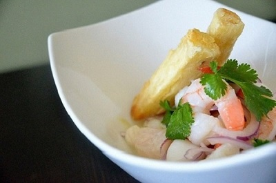 Freshly Made Ceviche Mixto