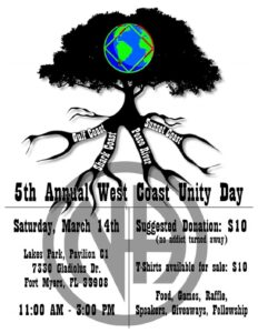 5th Annual West Coast Unity Day @ Lakes Park, Pavilion C1 | Fort Myers | Florida | United States