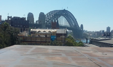 Sydney Harbour walk - view from museum rooftop cafe