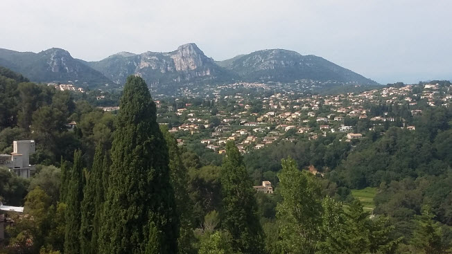 View of the southern French Alps from St. Paul de Vence.