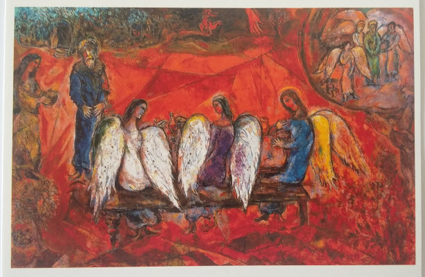 Abraham and three Angels (1966), Chagall Museum, Nice