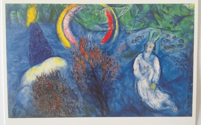 Moses and the Burning Bush (1966), Chagall Museum, Nice