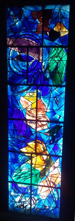 Stained glass, Chagall Museum, Nice