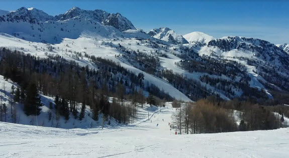 skiing near Nice