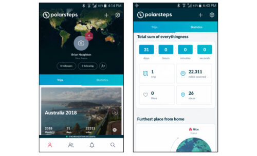 top travel apps - Polarsteps Travel Tracker