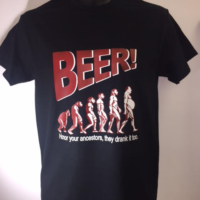 BLACK BEER TSHIRT