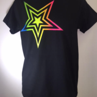 BLACK COLOR START SHIRT