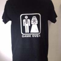 game over tshirtBLACK GAME OVER TSHIRT