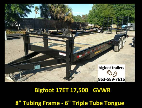 17,500lb Equipment Trailer Flatbed 20ft  7x20 hauler 24ft 14k used (PLANT CITY Equipment Trailers open flatbed) $6599