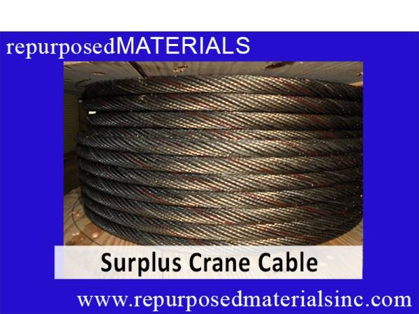 Surplus Grove Crane Cable...an INDUSTRIAL THRIFT STORE (repurposedMATERIALS)